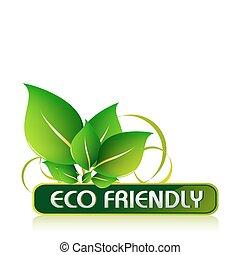 Eco-freundliche Ikone