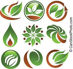 eco, grün, heiligenbilder