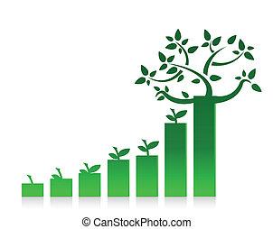 Eco Graph Chart Illustration
