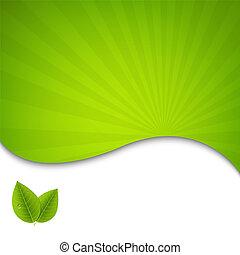 Eco Green hinterlässt Poster.