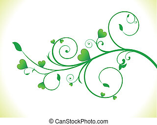 eco, herz, abstrakt, grünpflanze