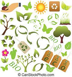Eco und Umweltsymbol