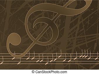 Editable Vektormusik Hintergrund