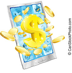 Ein $1-Geld-Handy-Konzept