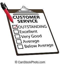 Ein ausgezeichneter CUSTOMER SERVICE Bewertungsbericht