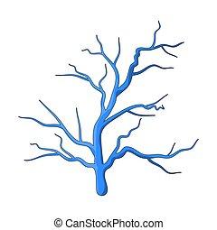 Ein blaues Vektorsymbol.