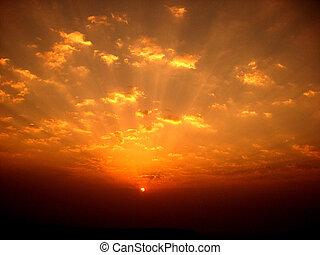 Ein bunter Sonnenaufgang