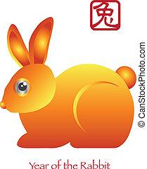 Ein chinesisches neues Jahr des Kaninchenzodiac