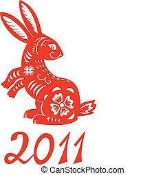 Ein chinesisches Tier im Kaninchenjahr.