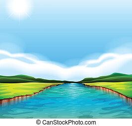 Ein fließender Fluss.