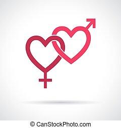Ein geschlechtsspezifisches Icon.