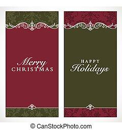 Ein großer Weihnachtsrahmen