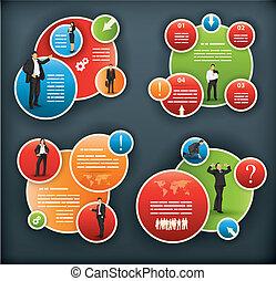 Ein infografisches Muster für Unternehmen und Unternehmen