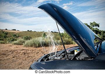 Ein kaputtes Auto.
