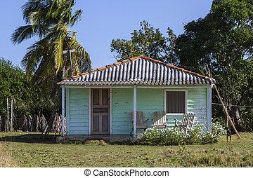 Ein kleines Wohnheim auf Kuba