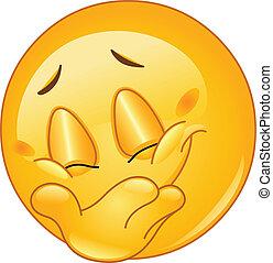 Ein Lächeln-Emoticon verstecken