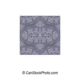 Ein luxuriöser, grauer Blumentapete