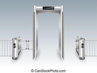 Ein Metalldetektor-Portal