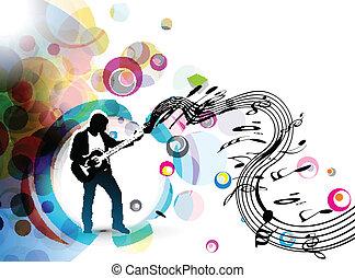 Ein Musiker, der Gitarre spielt
