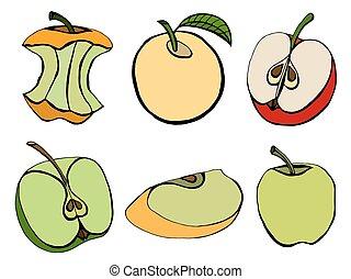 Ein Paar Äpfel.