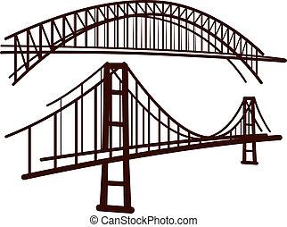 Ein paar Brücken.