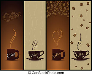 Ein paar Kaffee-Banner. Vector