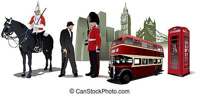 Ein paar Londoner Bilder im Hintergrund der Stadt