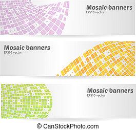 Ein paar mosaische Banner