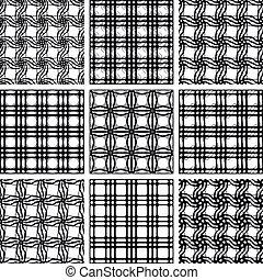 Ein paar nahtlose Muster.