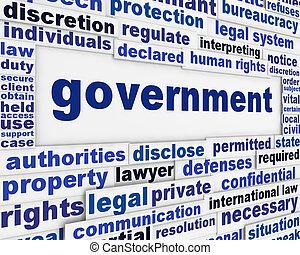 Ein Posterkonzept der Regierung