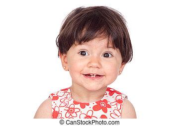 Ein reizendes kleines Mädchen, das lächelt