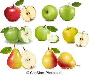 Ein roter und grüner Apfel