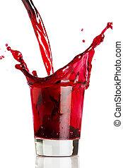 Ein rotes Getränk.