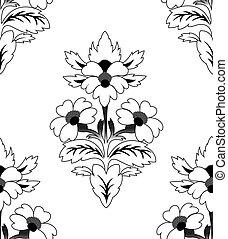 Ein sich wiederholendes Blumenmuster