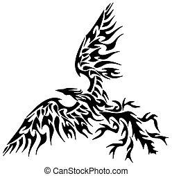 Ein tätowierter Phönix