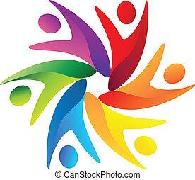 Ein Teamwork-Logo