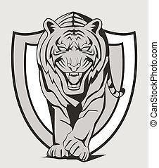 Ein Tiger-Emblem