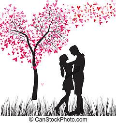 Ein verliebtes junges Paar