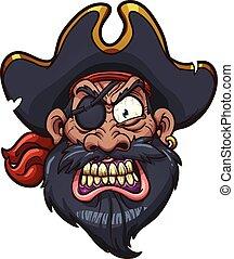 Ein wütender Pirat