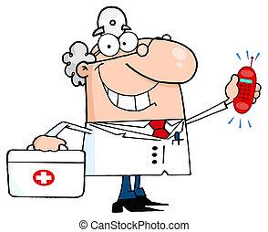 Ein weißer Arzt