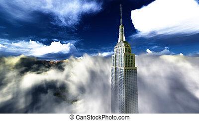Ein Wolkenkratzer