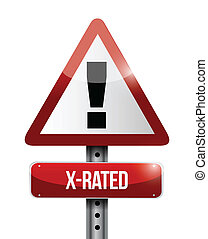 Ein x-bewertetes Warnschild
