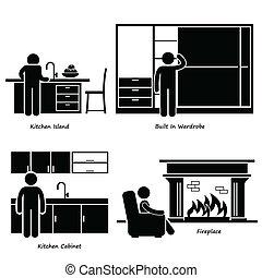 Einbaude Möbel Ikonen