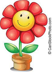 Eine Blume in einem Topf