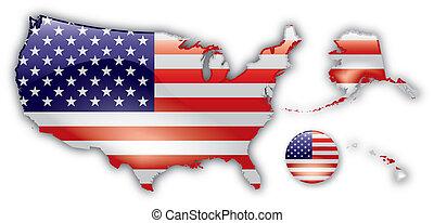Eine detaillierte Karte der USA