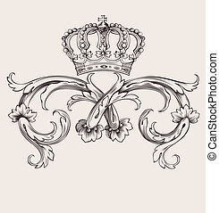 Eine Farbe königlicher krönender Kurven