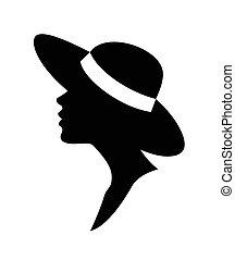 Eine Frau in einem Hutvektor