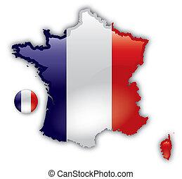 Eine genaue Karte von Frankreich