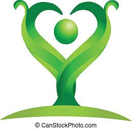 Eine grüne Natur-Logovektorin