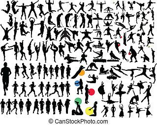Eine große Sammlung verschiedener Sportarten